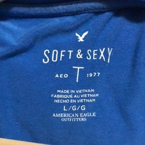 American Eagle Outfitters Tops - Women's lounge top: Blue